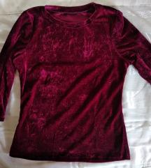 Плишана блуза