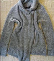 дебел сив џемпер FB SISTER (-40% попуст)