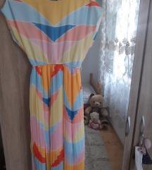 Sharen fustan do potkoleno za letni topli denovi