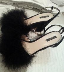 Zara novi sandali so perduvi Crni