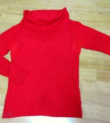 Crvena bluza/ rlka so goli ramena M/L