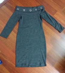 Nov moderen siv fustan L