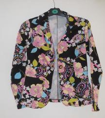Palto novo cvetno vel S/M - 250den