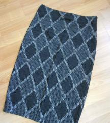 NOVO Siva elasticna suknja