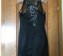 Црн свечен фустан мини