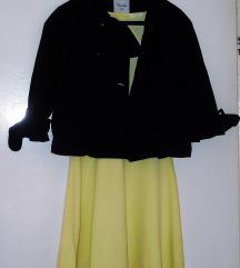 BERSHKA Zolto fustance +gratis paltence vel S