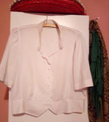 Бела ретро кошула