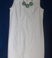 Кожно фустанче со подарок зелено цветно ланче
