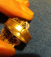 Srebren filigran prsten