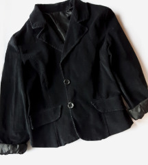 Сомотно црно сако