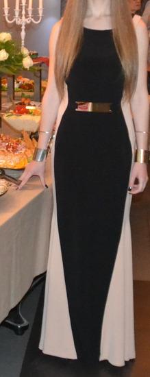 Crno kremov fustan
