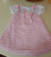 Roze bodi fustance so tul