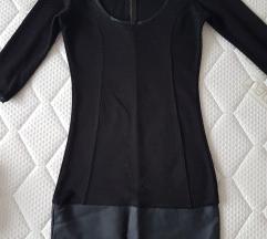 Crno mini fustance