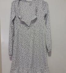 Бело цветно фустанче