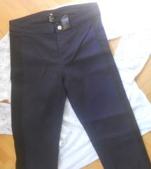 H&M Teget Pantaloni vel 36/S-300 den