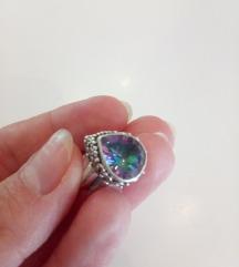Нов перстен 925 со турмалин вистински
