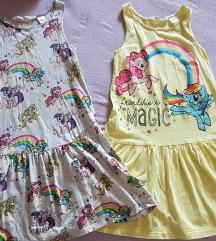 H&M Мој мали пони фустанчиња 6-8 год