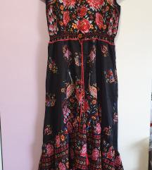 Фустан со цветен дезен