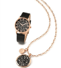 CrystalBlue женски часовник + ланче