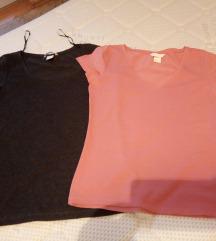 Две H&М маички цел.S за 160
