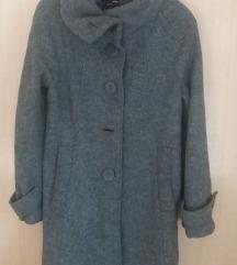 HM zimsko kaputce volneno siva boja