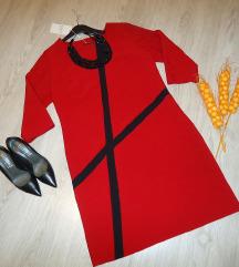 Nov Bordo fustan (so etiketa) 46/48