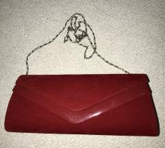 Црвена плик ташна