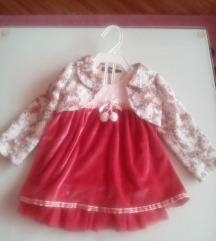 Novo bebesko fustance so bolerce