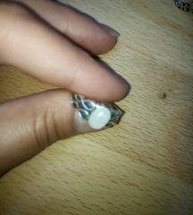 Fire opal gemstone infinity