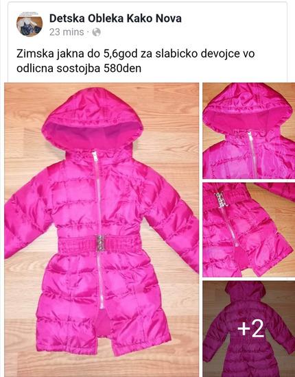 Nova jakna-Zimska jakna do 5,6god