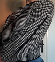 houndstooth црно-бело кратко сако
