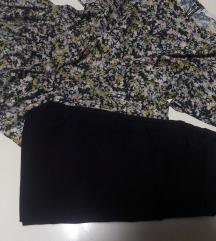 Komplet crni pantaloni i bluza novi