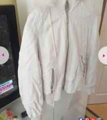 Kozna jakna zimska bela