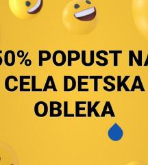 50 % POPUST NA DETSKITE ALISTA