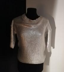 Mango сребрен џемпер