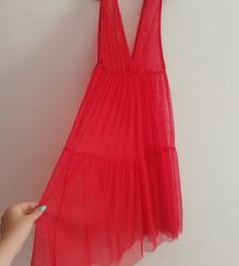 Црвен тул фустан! СКРОЗ НОВ!