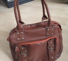 Нова чанта кафена кожна