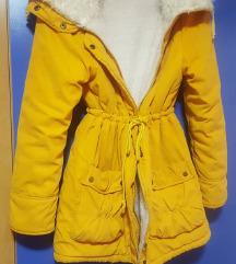 Жолта јакна за покрупни