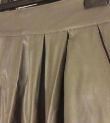Глог сукња од вештачка кожа со џебови