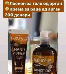СЕТ лосион за тело од арган + крема за раце