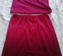 Nov dvodelen fustan xs/s*Razmeni
