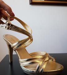 H&M златни прекрасни сандали еднаш носени