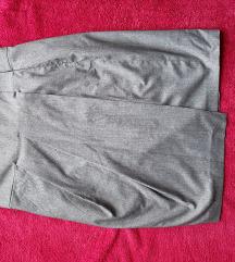 сукња сива со преклоп