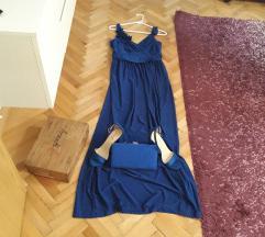 Nov komplet Royal Blue za dami so stil