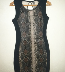 bodycon snake print фустан