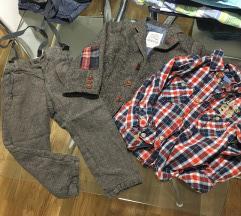 Комплет сако и панталони со трегери ГРАТИС кошула