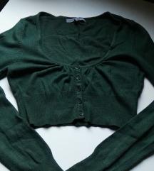 Zelena crop top bluza