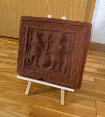 Теракотна икона Св.Христифор и Св.Ѓорѓи