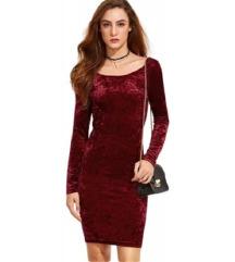 Елегантен фустан од кадифе