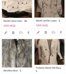 Kaputi, jakni, mantil, elece